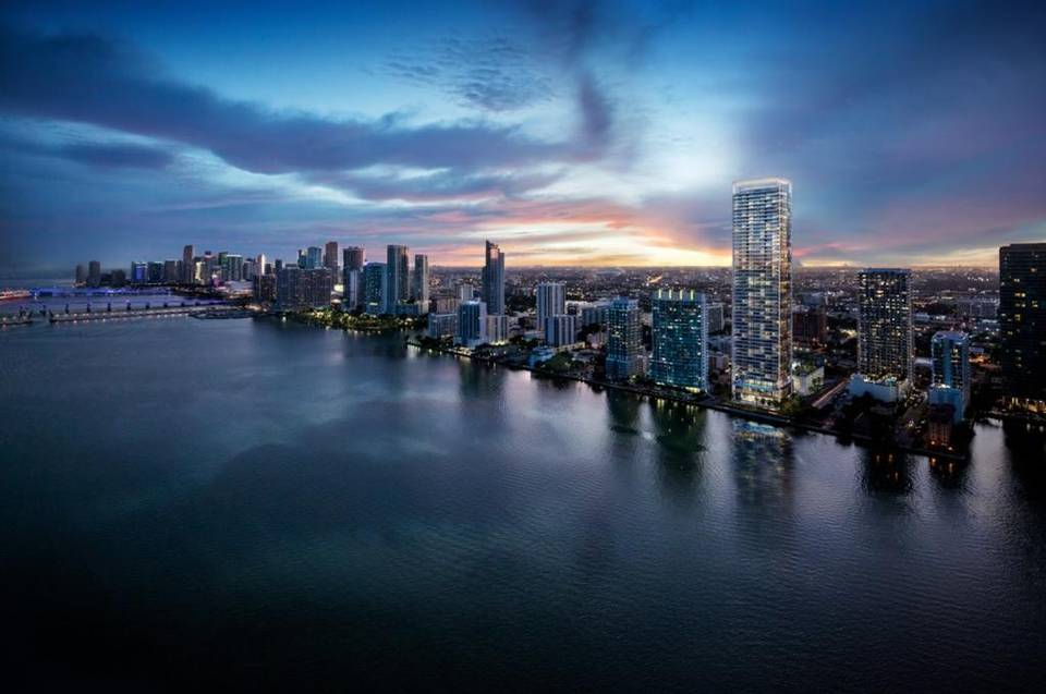 Rendering of the Missoni Baia building in Edgewater, Miami