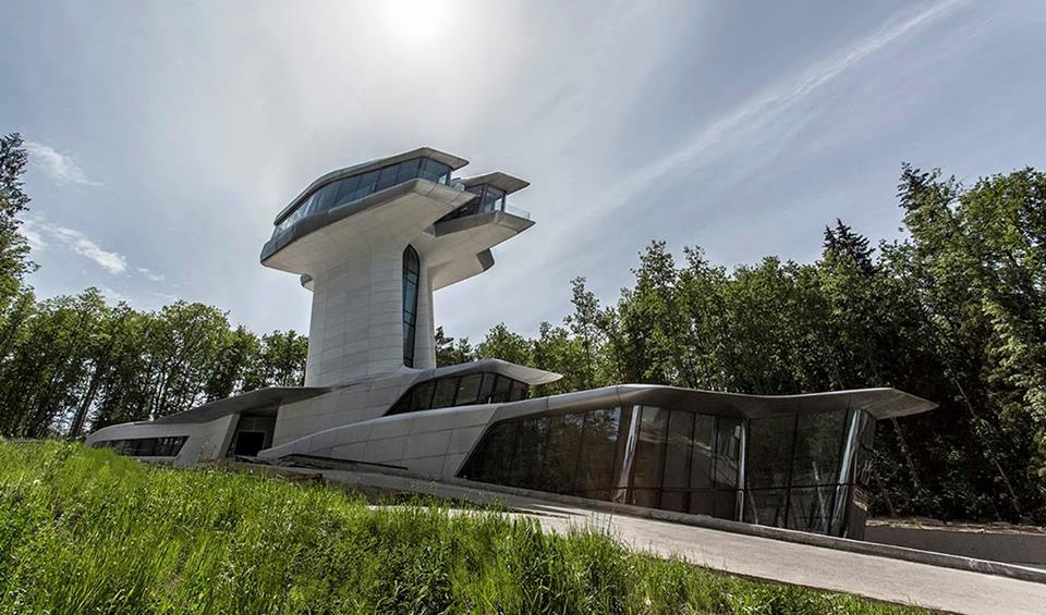 Vladislav Doronin's private residence, designed by Zaha Hadid. (Photo: D. Fiser/Courtesy Zaha Hadid Architects.)