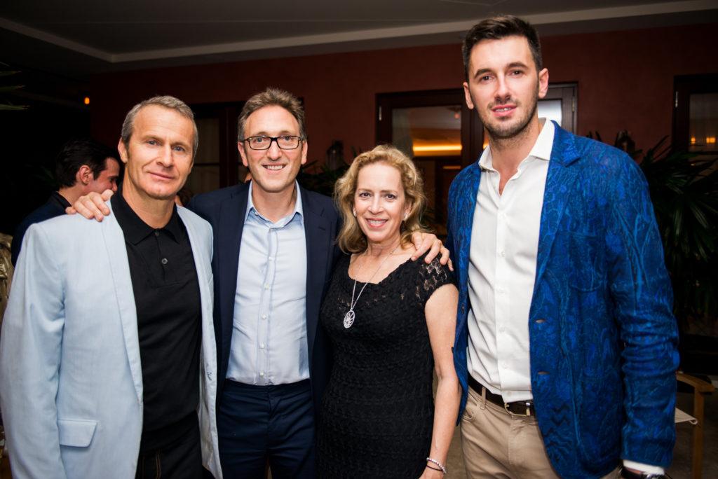 Vladislav Doronin, Jonathan Goldstein, Alicia Cervera and Ottavio Missoni at the launch of Missoni Baia Miami Residences