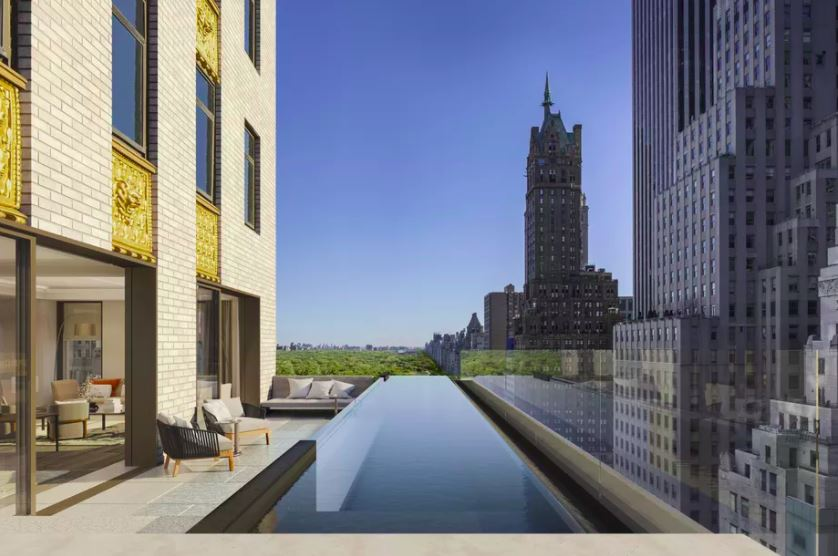 Aman New York, Crown Building, Penthouse Infinity Pool