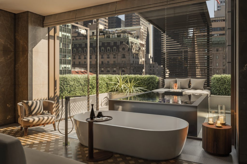 A rendering of a bathroom. ILLUSTRATION: AMAN