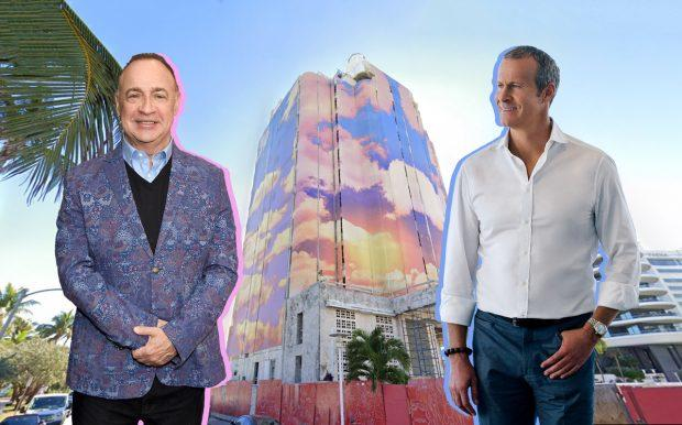 Len Blavatnik, 3425 Collins Avenue and Vlad Doronin (Credit: Google Maps, Getty, Wikipedia Commons)