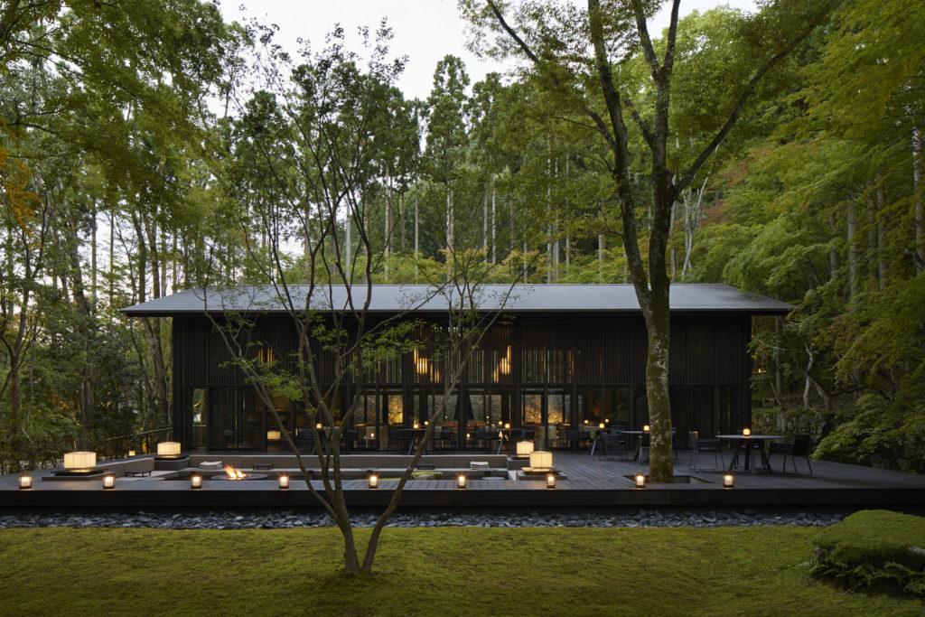 Aman Kyoto Living Pavilion Exterior Dusk