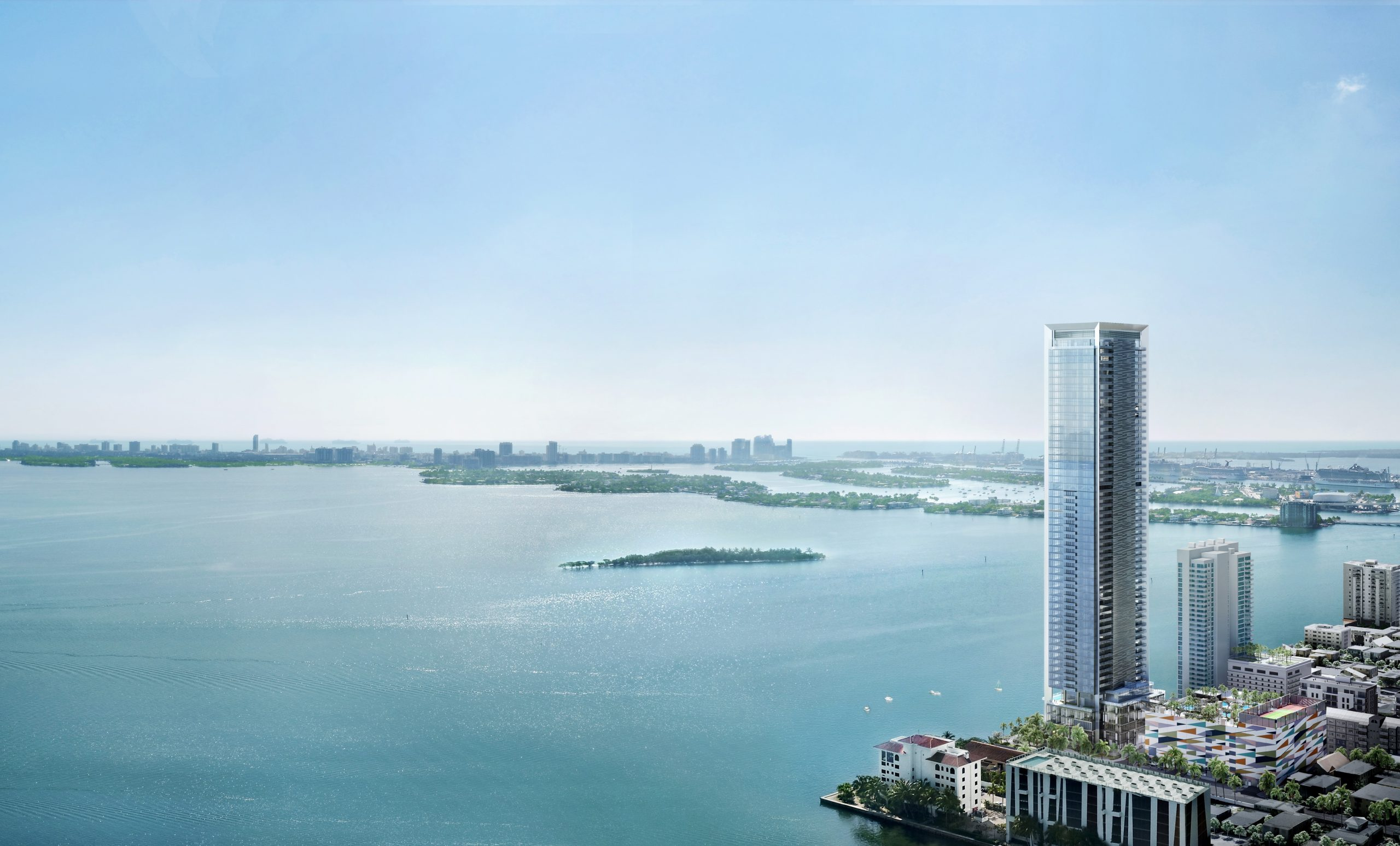 Missoni Baia tower on the Edgewater Waterfront
