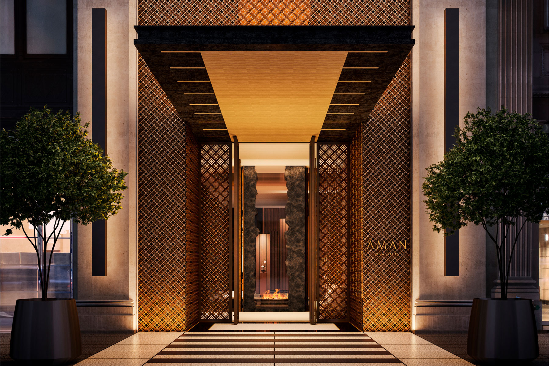 Aman New York Entrance
