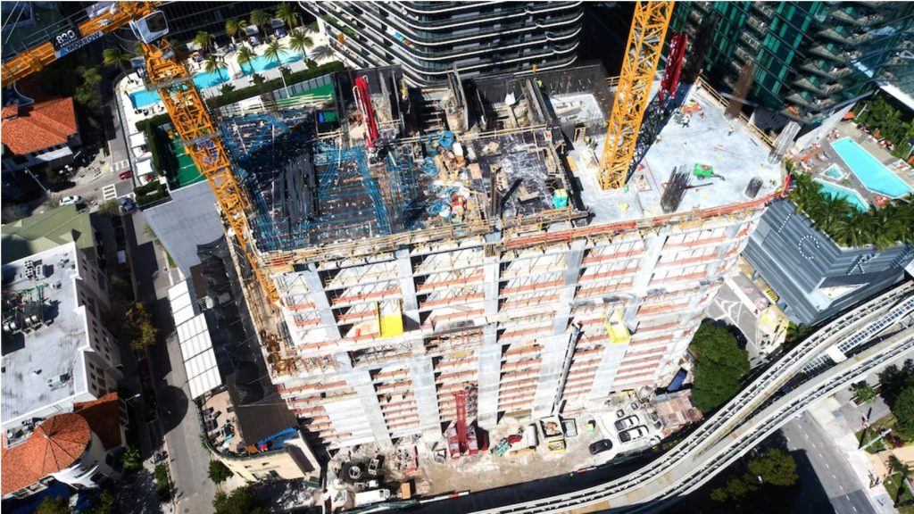 830 Brickell, Miami reaches halfway point of construction